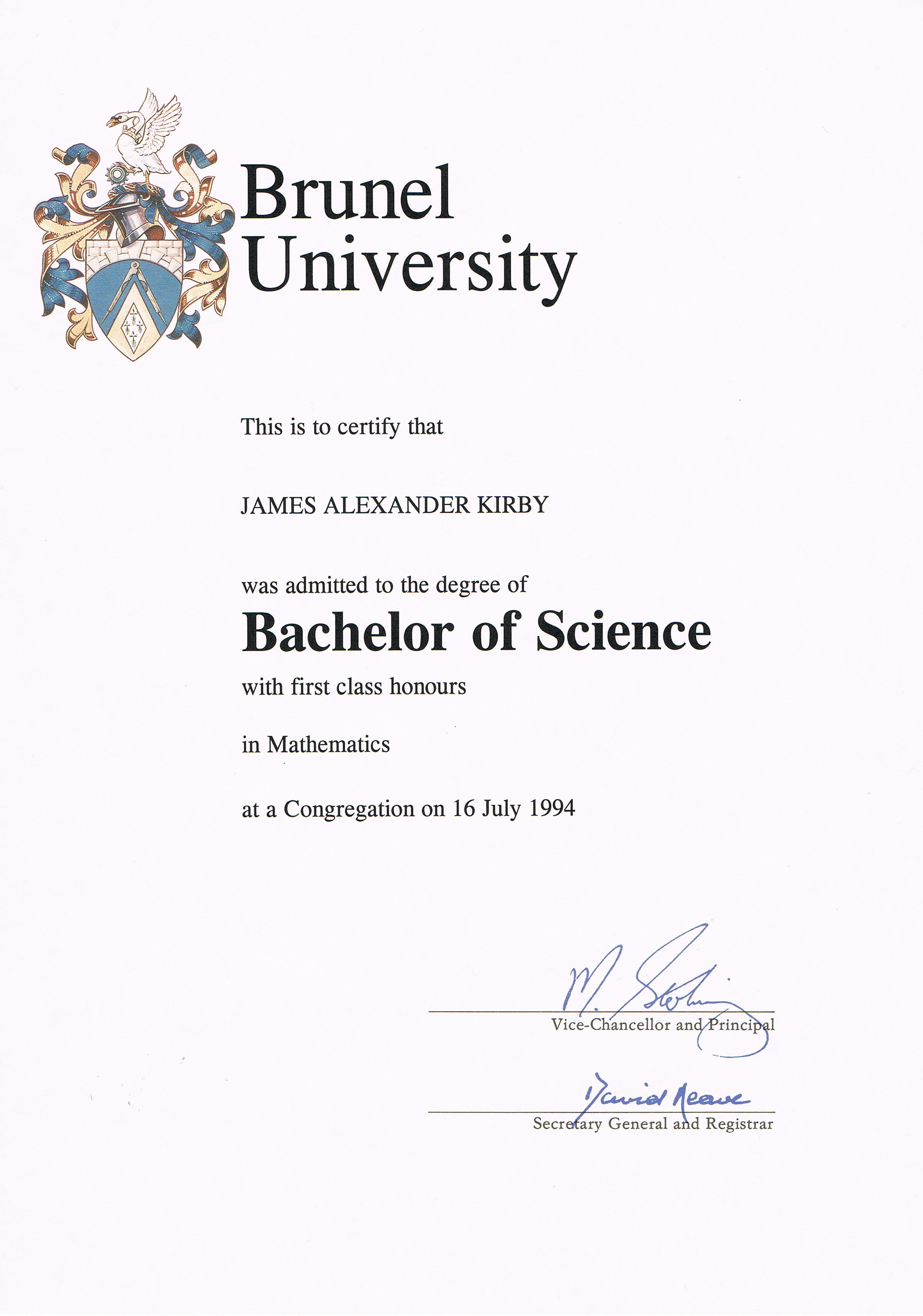 Degree without honours dissertation
